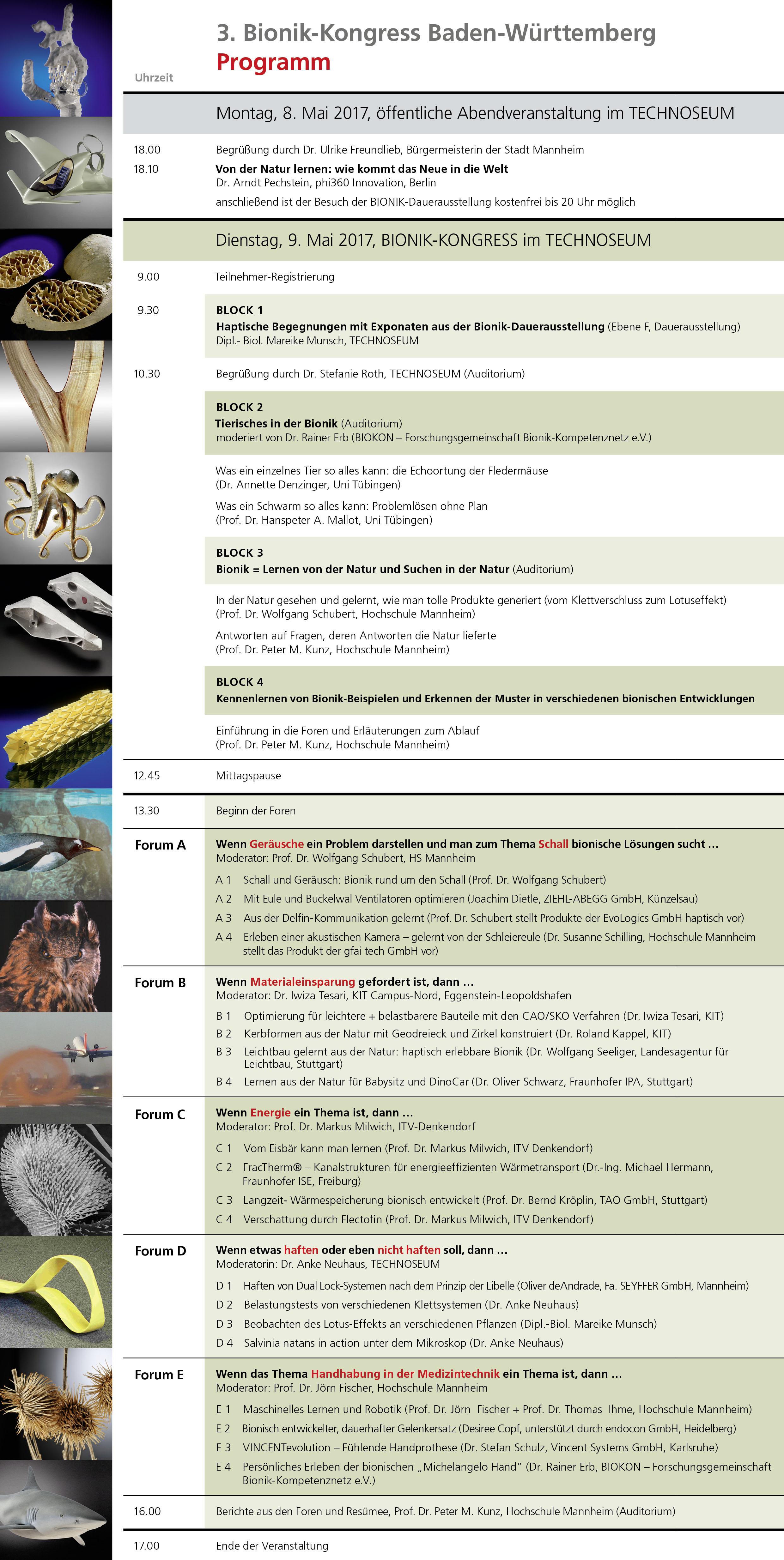 Programm Bionik-Kongress-2017